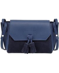 Longchamp Penelope Small Leather Crossbody Bag - Blue