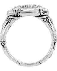 John Hardy - Bamboo Diamond Oval Pave Ring - Lyst