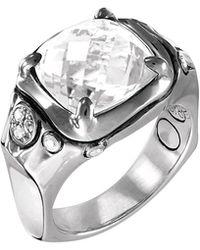 John Hardy - Batu Silver Cushion Ring W/ White Topaz - Lyst