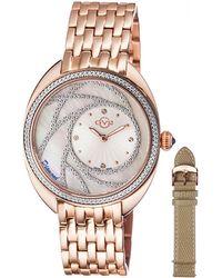 Gv2 - 39.6mm Ancona Bracelet Watch W/ Diamonds & Interchangeable Strap - Lyst