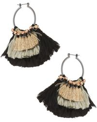 Nakamol - Two-tone Tassel Hoop Earrings - Lyst
