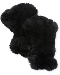 Adrienne Landau - Rabbit Fur Fingerless Gloves - Lyst