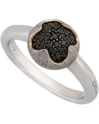 Chimento - 18k White Gold & Black Diamond Pave Ring - Lyst