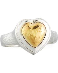 Gurhan - Romance Two-tone Heart Ring - Lyst