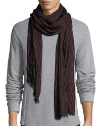 John Varvatos | Harringbone Knit Scarf | Lyst