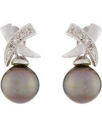 Dina Mackney Crisscross Pearl Drop Earrings yOr9xsBPY