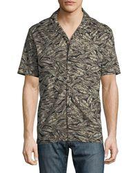 Antony Morato - Camo Feather Short-sleeve Sport Shirt - Lyst