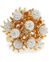 Lele Sadoughi - Dandelion Fireball Crystal Cocktail Ring - Lyst