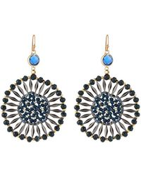 Nakamol - Crystal Starburst Drop Earrings - Lyst