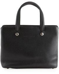 Longchamp - Le Foulonne Medium Leather Shoulder Bag - Lyst