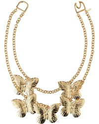 Kenneth Jay Lane Butterfly 2-layer Necklace - Metallic