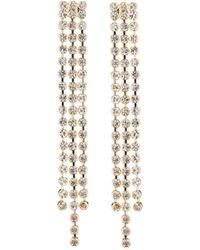 Fragments - Triple Crystal Dangle Earrings - Lyst