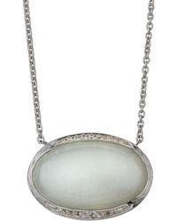 Elizabeth Showers - Oval Pavé Pendant Necklace - Lyst