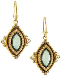 Armenta Old World Doublet Drop Earrings Chrysoprase/quartz - White