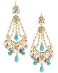 Jose & Maria Barrera - Mixed Pastel Chandelier Earrings - Lyst