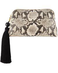 Donna Karan - Raz Snake-print Leather Clutch Bag - Lyst
