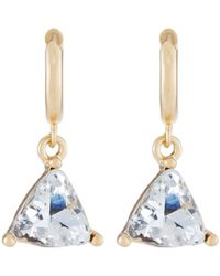 Fragments | Triangle Cubic Zirconia Drop Earrings | Lyst