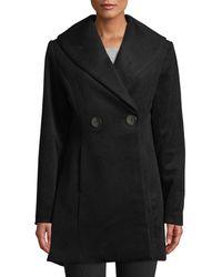 T Tahari - Colette Fit & Flare Wool-blend Coat - Lyst