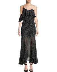 Keepsake - Embrace Me One-shoulder Dot Print Maxi Dress - Lyst