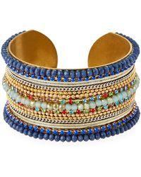 Nakamol Multi-bead Cuff Bracelet - Multicolour