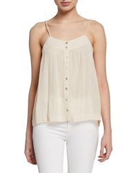 Knot Sisters Metallic Button-front Tank - Multicolour