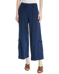 Leon Max - Wide-leg Basketweave Jeans W/ Large Pockets - Lyst