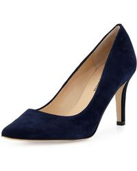 Neiman Marcus - Cissy Pointed-toe Suede Pumps - Lyst