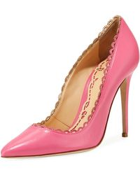 Marchesa - Valeria Scalloped Leather Pumps - Lyst