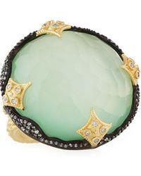 Armenta | Old World 18k Chrysoprase Doublet Ring W/ Diamonds | Lyst