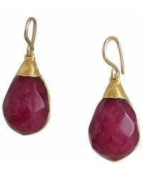 Devon Leigh - Ruby Quartz Drop Earrings - Lyst