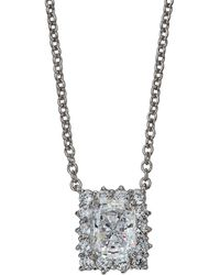 Fantasia by Deserio - Radiant Cubic Zirconia Pendant Necklace - Lyst