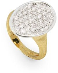 Marco Bicego - Lunaria 18k Gold Diamond Pave Ring - Lyst