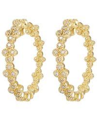 Jude Frances - 18k Provence Diamond Quad Hoop Earrings - Lyst