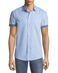 Report Collection - Short-sleeve Bird-print Oxford Shirt - Lyst