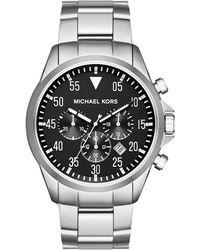 MICHAEL Michael Kors - Men's 45mm Gage Chronograph Bracelet Watch - Lyst