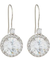 Fantasia by Deserio | Antique Cubic Zirconia Round Drop Earrings | Lyst