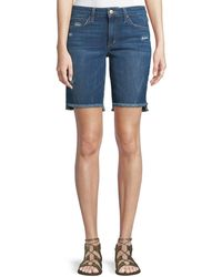 Joe's Jeans Finn Raw-edge Denim Bermuda Shorts - Blue