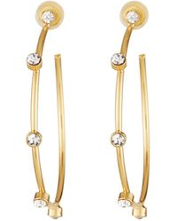 Fragments - Crystal Hoop Earrings - Lyst