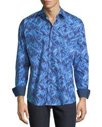 Bugatchi - Men's Classic-fit Crystallization Woven Sport Shirt - Lyst