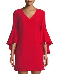 Romeo and Juliet Couture | Cascading Bell-sleeve Shift Dress | Lyst