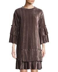 Goldie London - Jazzed Pleated Velvet Dress - Lyst