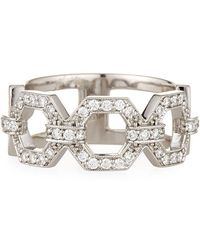 Penny Preville - 18k Square Diamond Link Ring Size 6 - Lyst