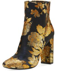 0acc884d9630c Lyst - Sam Edelman Grey Elina Floral-Jacquard Over The Knee Boots in ...