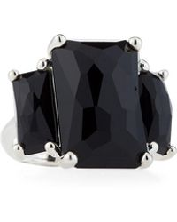 Ippolita - Rock Candy 3-stone Prong-set Ring In Black Onyx - Lyst