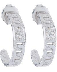John Hardy - Medium Diamond Pave Hoop Earrings - Lyst