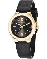 Karl Lagerfeld - 34mm Joleigh Leather Watch - Lyst