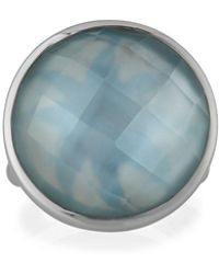 Elizabeth Showers - Icon Doublet Ring In Blue - Lyst