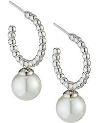 Majorica - Blake 8mm Pearl-drop Hoop Earrings - Lyst