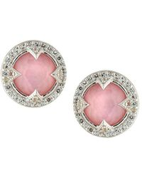 Jude Frances - Lisse Pink Doublet Stud Earrings - Lyst