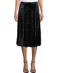 Glamorous - Pleated Crushed-velvet Skirt - Lyst